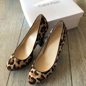 Shoes - Calvin Klein Emmy Leopard Print Pumps
